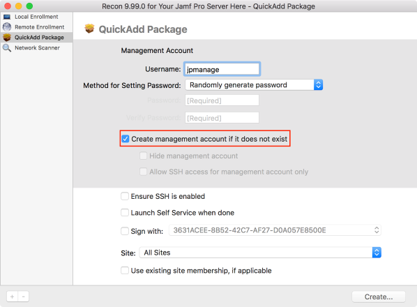 Creating Jamf Pro QuickAdd installer packages which do not