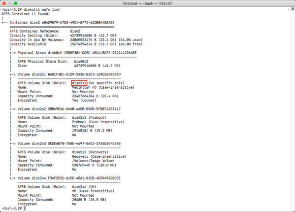 Unlock or decrypt an encrypted APFS boot drive from the