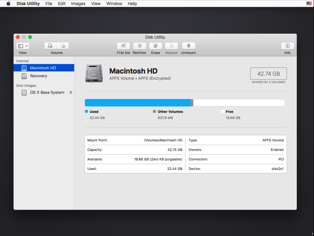 Unlock an encrypted APFS boot drive using Disk Utility | Der