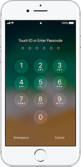 Iphone7 ios11 passcode lock screen