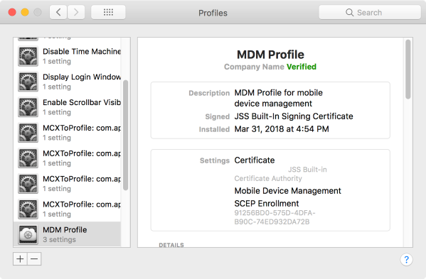 User-initiated computer enrollment now using MDM profile