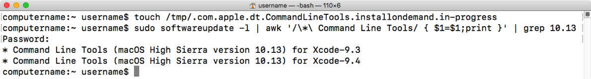 Updated Xcode command line tools installer script now available