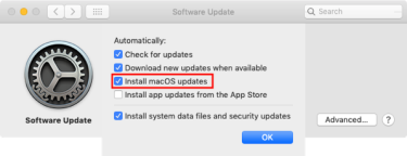 Enabling Automatic Macos Software Updates For Os X Yosemite Through Macos Mojave Der Flounder