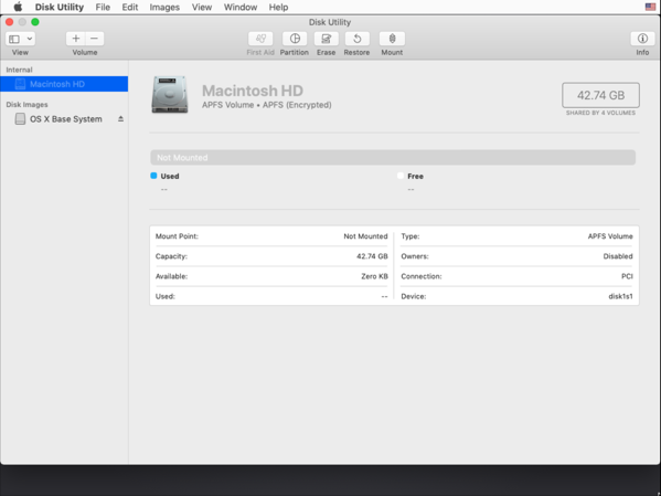 Unlock your FileVault-encrypted boot drive using Disk Utility on