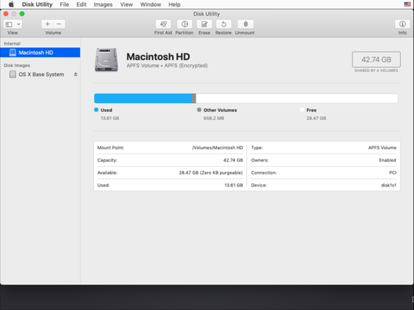 Unlock your FileVault-encrypted boot drive using Disk