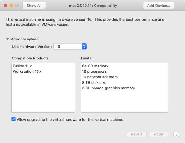 Mouse doesn't move at FileVault login screen in VMware Fusion macOS