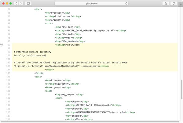 Building customized postinstall scripts for AutoPkg recipes | Der