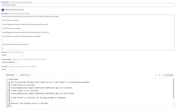 Jamf Pro Extension Attribute Setup1