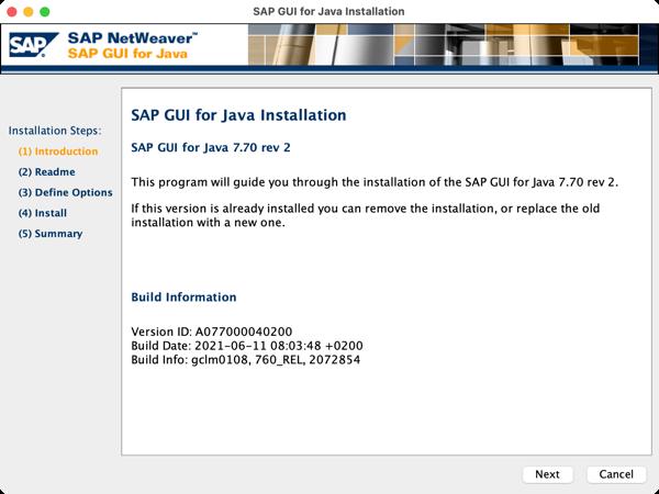 Packaging a SAP GUI installer application for macOS